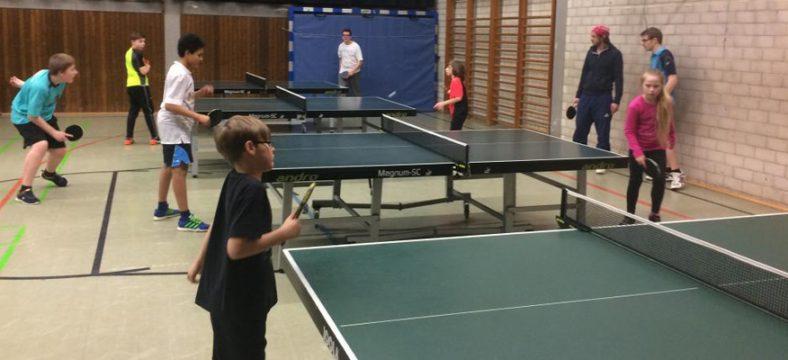 Tischtennis-Training beim ASV Wuppertal